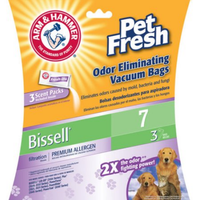 ARM & HAMMER™ Premium Filtration Pet Fresh Odor Eliminating Vacuum Bags, Bissell 7 Pet Fresh