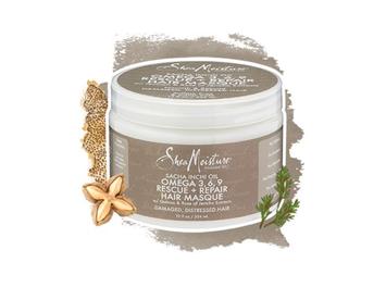 SheaMoisture Sacha Inchi Oil Omega-3-6-9 Rescue + Repair Hair Masque