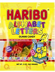 HARIBO Alphabet Letters Fruit Gummies