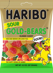 HARIBO Sour Gold Bears Gummi Candy