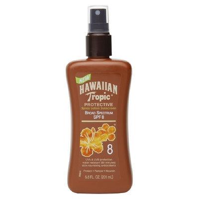 Hawaiian Tropic Protective Spray Lotion, Water Resistant, SPF 8