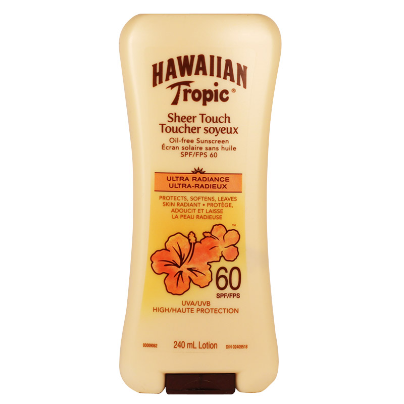 Hawaiian Tropic Sheer Touch Oil Free Sunscreen Lotion, SPF 60