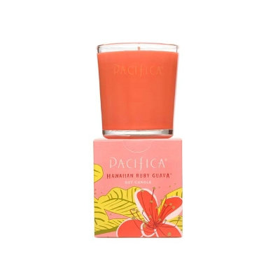 Pacifica  Hawaiian Ruby Guava Soy Candle