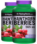 Piping Rock Hawthorn Berries 565 mg 2 Bottles x 180 Capsules
