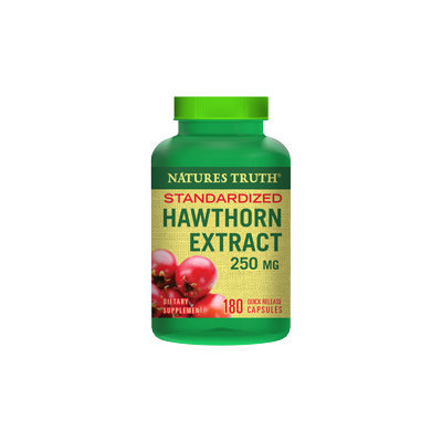 Piping Rock Hawthorn Extract 250mg 180 Capsules
