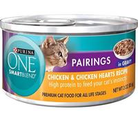 PURINA ONE® SmartBlend Pairings Chicken & Chicken Hearts Recipe in Gravy Premium Cat Food