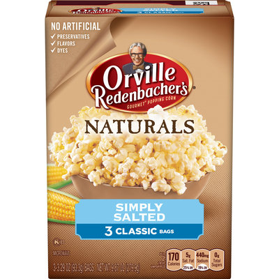 Orville Redenbacher's Natural Simply Salted Microwaveable Popcorn