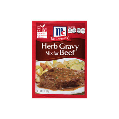 McCormick® Herb Gravy Mix For Beef