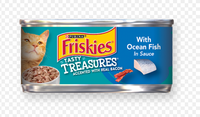 Friskies® Tasty Treasures With Ocean Fish In Sauce Accented With Real Bacon
