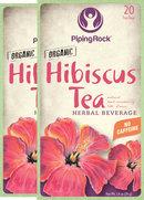 Piping Rock Hibiscus Organic Tea 2 Boxes x 20 Tea Bags