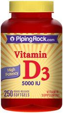 Piping Rock Vitamin D3 5000 IU 250 Softgels