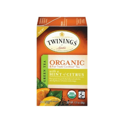 TWININGS® OF London Green Tea With a Hint Of Citrus Organic Tea Bags