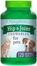 Piping Rock Hip & Joint for Dogs & Cats 120 Chewable Tablets