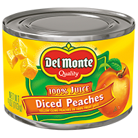 Del Monte®  Diced Yellow Cling Peaches in 100% Fruit Juice