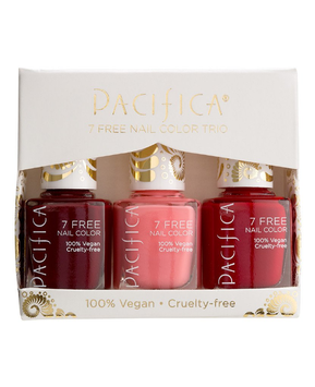 Pacifica Holiday Reds 7 Free Nail Color Trio