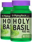 Piping Rock Holy Basil 400 mg Tulsi 2 Bottles x 90 Capsules