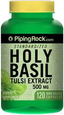 Piping Rock Holy Basil Extract 500mg 120 Capsules