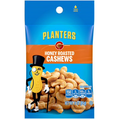 Planters Honey Roasted Cashews Bag
