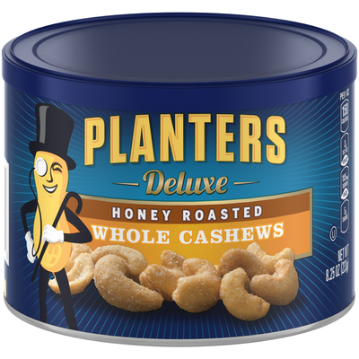Planters Deluxe Honey Roasted Whole Cashews