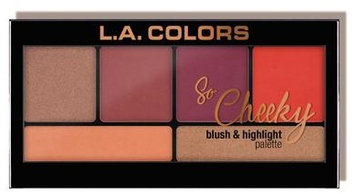 L.A. Colors So Cheeky Blush and Highlight Palette