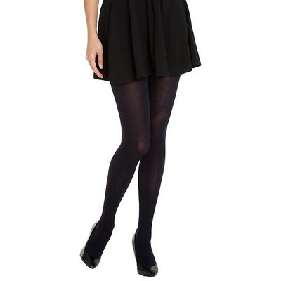 HUE 1 Black Thermo-Luxe Opaque Tights