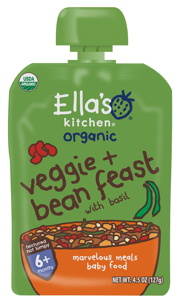Ella's Kitchen® Organic hugely hearty four bean feast with big flavor