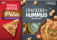 Keebler Town House Pita Herb Crackers Hummus Variety Pack