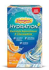 Emergen-C Hydration+ Electrolyte Replenishment & Glucosamine Orange Spritz