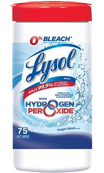 Lysol Wipes with Hydrogen Peroxide