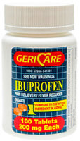 Otc ibuprofen 200mg 100 Tablets