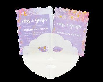 Miss De Gaspé Dry Sheet Masks Brighten & Beam