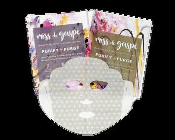 Miss De Gaspé Dry Sheet Masks Purify & Purge