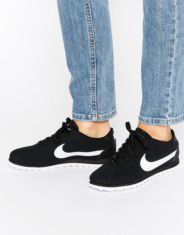 various design fashion style authentic Women's Nike 'Cortez Ultra Moire' Sneaker, Size 7.5 M - Black