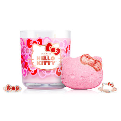 Hello Kitty Candle & Bath Bomb Set