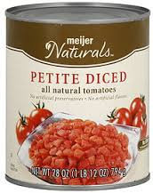 Meijer Naturals Petite Diced Tomatoes