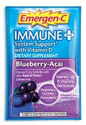 Emergen-C Immune+ System Support* with Vitamin D Blueberry-Acai