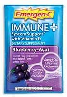 Emergen-C Immune+ System Support* with Vitamin D Blueberry-Acai