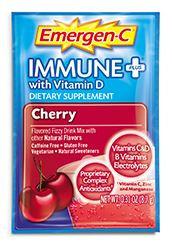 Emergen-C immune+ with Vitamin D Cherry