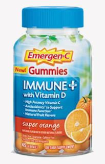 Emergen-C Gummies Immune+ with Vitamin D Super Orange