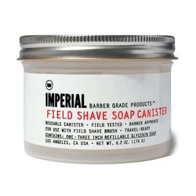 Men's Imperial Barber Grade Products Refillable Field Shave Soap Canister