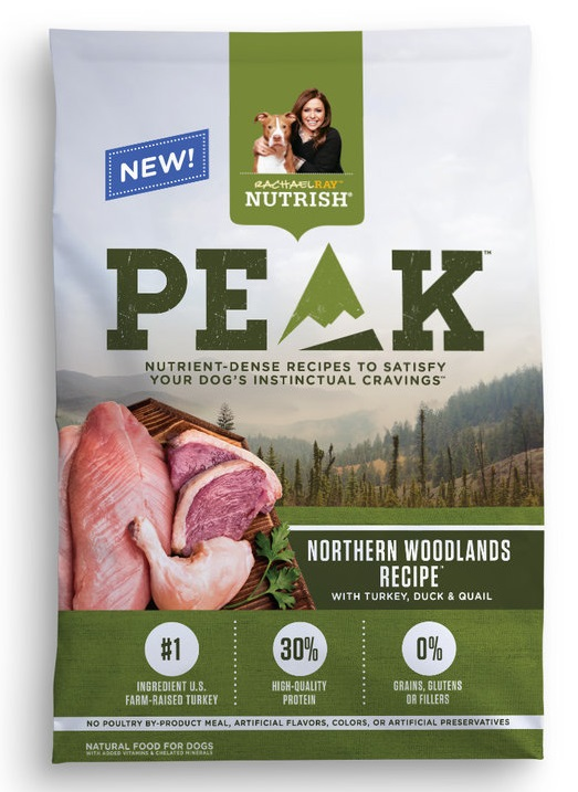 Rachael Ray™ Nutrish® PEAK Ultra Premium Food for Dogs Northern Woodlands Recipe™ With Turkey, Duck & Quail