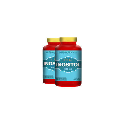 Piping Rock Inositol 650 mg 2 Bottles x 180 Capsules