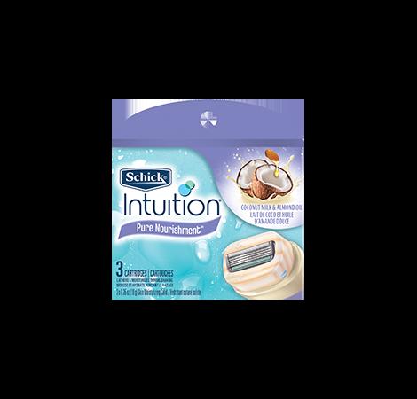 Schick Intuition Pure Nourishment Skin Moisturizing Solid Razor Cartridges