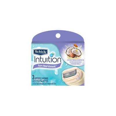 Schick Intuition Pure Nourishment Skin Moisturizing Solid Razor Cartridges