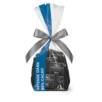 Ghirardelli Intense Dark Chocolate 86% Cacao Squares Gift Bag