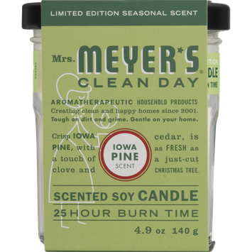 Mrs. Meyer's Clean Day Iowa Pine Scented Soy Candle