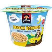 Quaker Life® Banana Bonanza  Instant Oatmeal