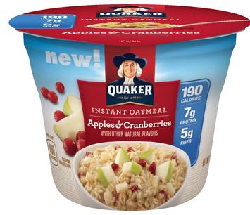 Quaker® Instant Oatmeal Cups Apples & Cranberries
