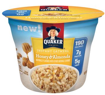 Quaker® Instant Oatmeal Cups Honey & Almonds
