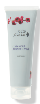 100% Pure Purity Acne Clearing Cleanse + Mask